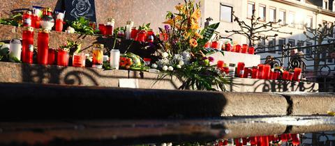 Trauerbekundungen am Heumarkt nach Anschlag in Hanau