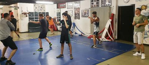 Boxtraining im Hanauer Jugendzentrum k.town, wo mehrere Opfer des Anschlags von Hanau ein- und ausgingen