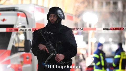 Einsatzkräfte nach dem Terroranschlag von Hanau