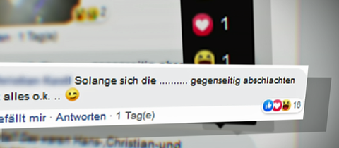 Hass-Post mit Likes
