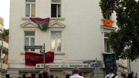 Das besetzte Haus in Frankfurt-Bornheim