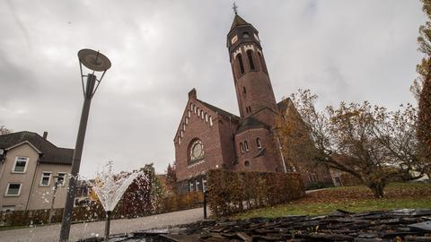 Die Hephata-Kirche auf dem Gelände des Hephata-Diakoniezentrums in Schwalmstadt-Treysa.