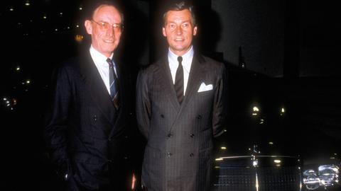 Alfred Herrhausen mit Edzard Reuter (Vorstandsvorsitzender Daimler-Benz AG)