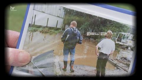 Noch im kollektiven Gedächtnis der Sechsheldener:  Foto von dem großen Hochwasser im September Jahr 2006