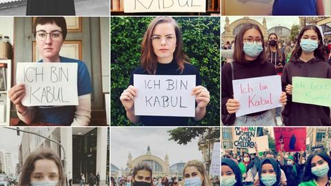 Menschen auf der Instagramseite von #IchbinKabul