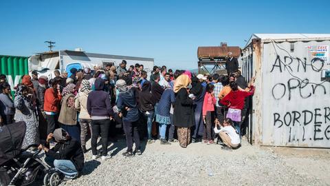 Flüchtlinge im Lager Idomeni an der griechisch-mazedonischen Grenze.