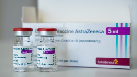 Astrazeneca-Impfstoff in Fläschchen