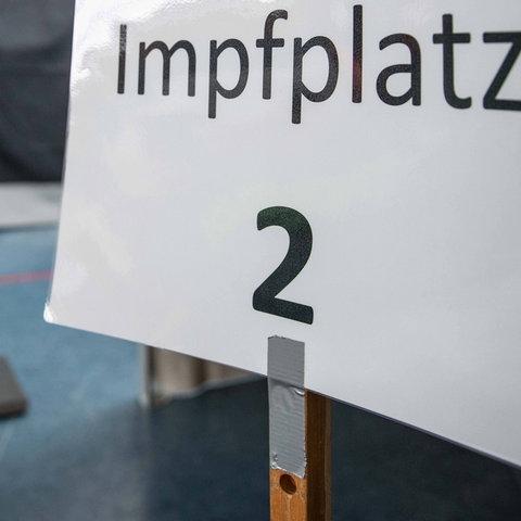 Ein Corona-Impfzentrum in Hessen