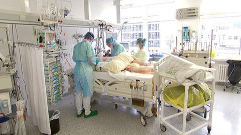 Covid-19-Patient im Klinikum Kassel