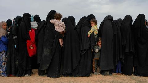 IS-Frauen mit ihren Kindern