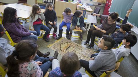 Islamischer Religionsunterricht in einer Frankfurter Grundschule.