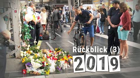 Betroffenheit und Anteilnahme am Unglücks-Gleis am Frankfurter Hauptbahnhof