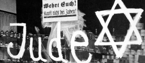 Jude, Fensterscheibe, Davidstern
