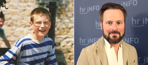 Die Bildkombination zeigt Portraits von Kai Moritz - damals und heute.