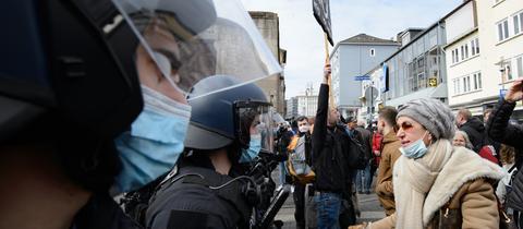 Kassel Demonstration Polizei Querdenker