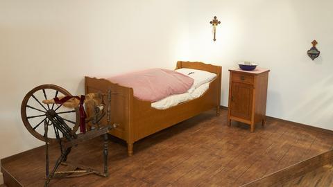 Nachbildung des Schlafraums von Katharina Kasper im Mutterhaus der Dernbacher Schwestern
