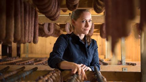 Katharina Koch und ihre Wurstwaren