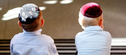 Kippa Jungen Juden Antisemitismus