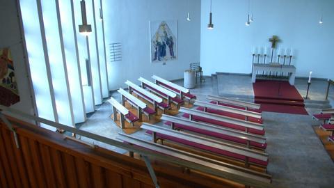 Wegen Einsturzgefahr geschlossen: die Wichernkirche in Gießen