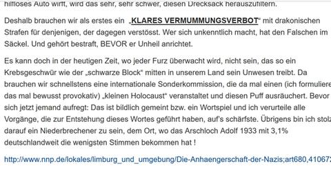"Screenshot vom Blogeintrag ""Kleiner Holocaust"""