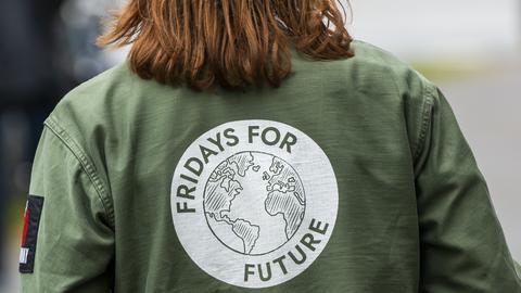 Klimaaktivistin in Frankfurt
