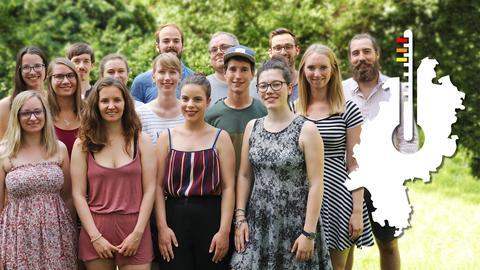 Gruppe Studenten
