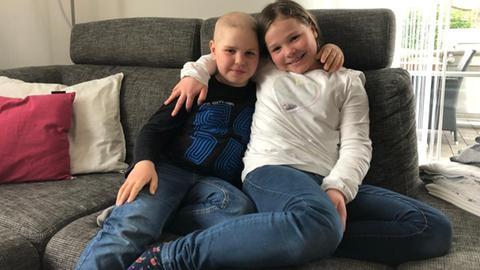 Finn Hedderich und seine Schwester Lisa aus Ebsdorfergrund
