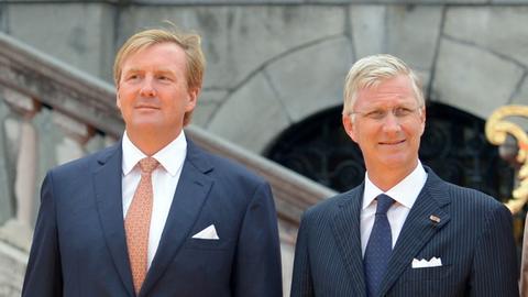 Die Könige Willem-Alexander (Niederlande) und Philippe (Belgien)