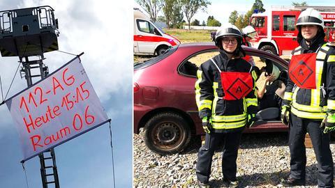 Jugendliche beim Feuerwehrunterricht