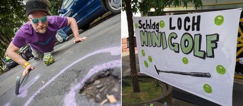 Schlagloch-Minigolfer
