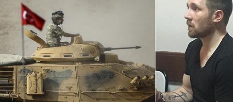 Türkische Armee in der Provinz Sirnak / Patrick Kraicker vorgeführt in türkischen Medien