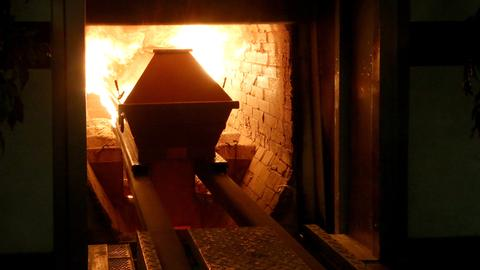 Feuerbestattung im Krematorium