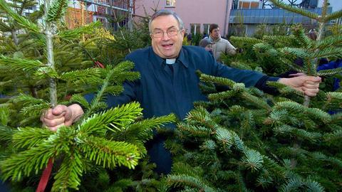 Für seinen Amtssitz suchte Lehmann als Mainzer Bischof persönlich jedes Jahr einen Tannenbaum aus.