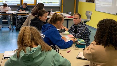 Ausgezeichnet: Marco Rill von der Hermann-Hesse-Schule in Obertshausen im Unterricht