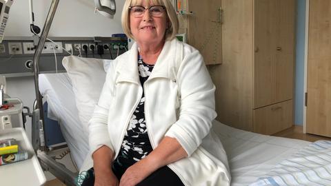 Karin Schulbert, Patientin im Carreras Leukämie Centrum Marburg