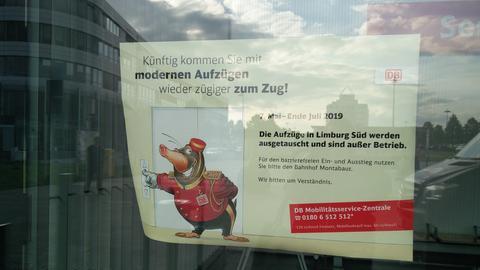 Plakat Limburg Bahnhof