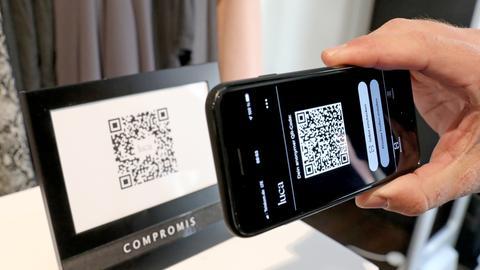 """Die """"Luca App"""" zur Kontaktnachverfolgung und Check-In via QR-Code."""