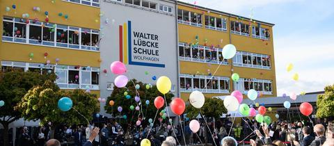 Walter-Lübcke-Schule in Wolfhagen bei der Eröffnungsfeier im vergangenen September.