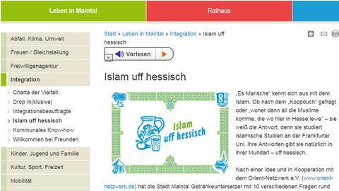 """""""Islam uff Hessisch"""" mit Bembel und Apfelweinglas"""