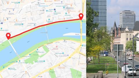 Im Sommer 2019 soll das Frankfurter Mainfuer zwischen Untermainbrücke und Alter Brücke für den Autoverkehr gesperrt werden.