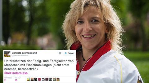 Manuela Schmermund twittert über #beHindernisse