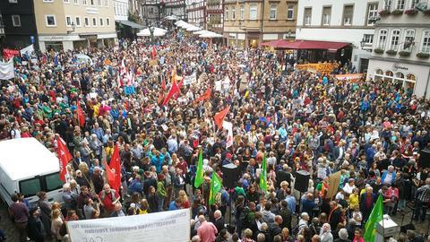 Zur Kundgebung in der Marburger Oberstadt kamen tausende Menschen.