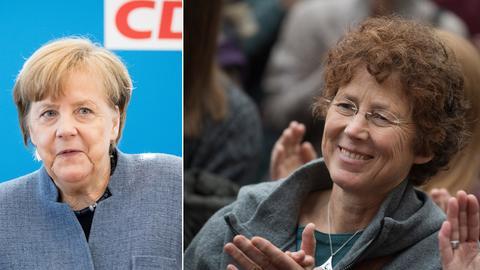 Angela Merkel und Kristina Hänel.