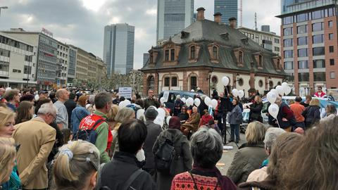 Kundgebung gegen steigende Mieten in Frankfurt