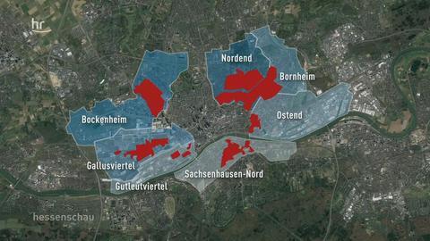 In diesen Frankfurter Stadtteilen sollen die Mieter vor Verdrängung geschützt werden.
