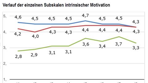 Motivationskurven der Kinder: Interesse, Kompetenz und Wahlfreiheit