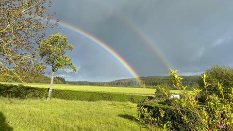 Momentaufnahme Regenbogen