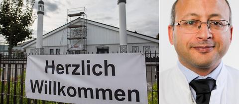 Die Bait-ul-Wahid Moschee in Hanau lud zum Tag der Offenen Moschee Besucher ein - der Politikwissenschaftler Mimoun Azizi