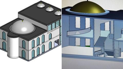 Pläne für einen Moschee-Neubau in Hanau