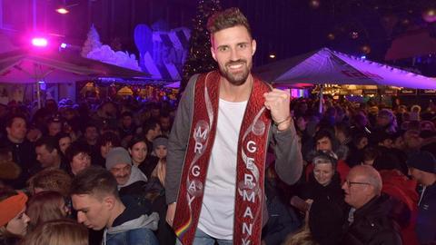 Mr. Gay Germany Benjamin Näßler bei der Kürung in Köln.